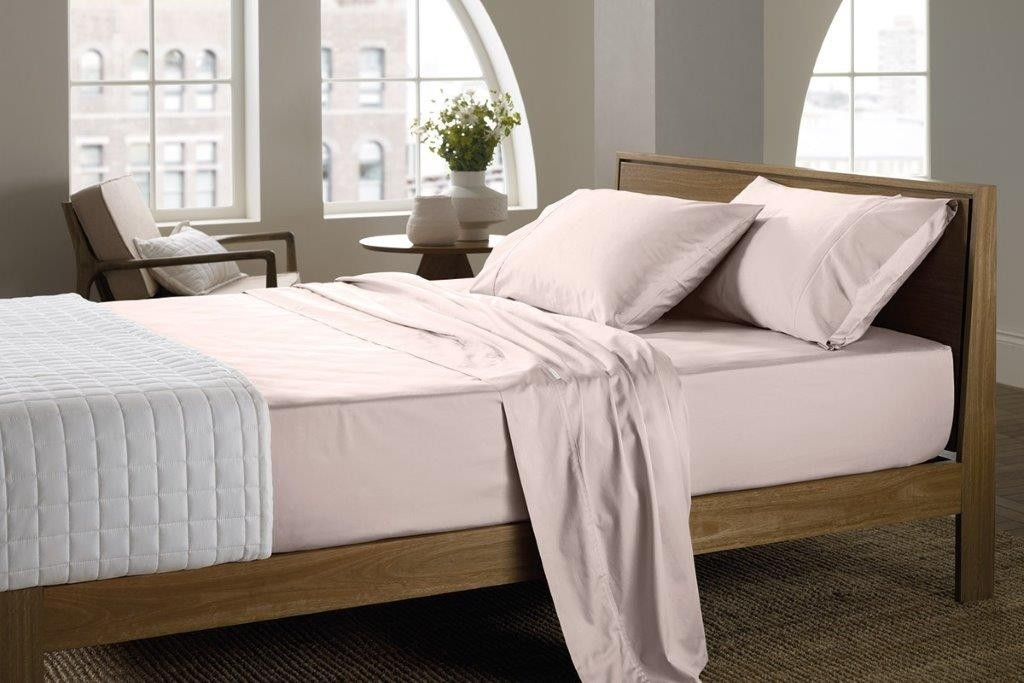 400 Thread Count Soft Sateen Sheeting Range in Angel by Sheridan