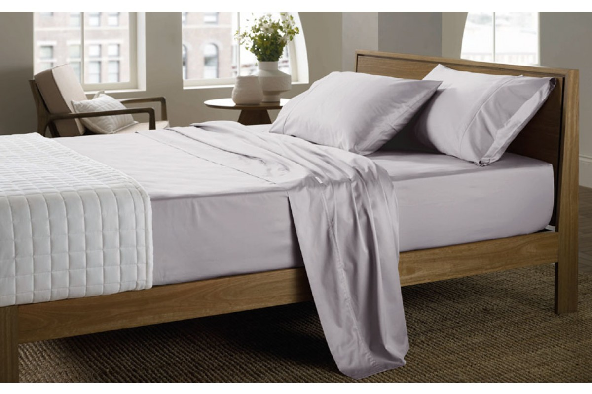 400 Thread Count Soft Sateen Sheeting Range in Dove by Sheridan