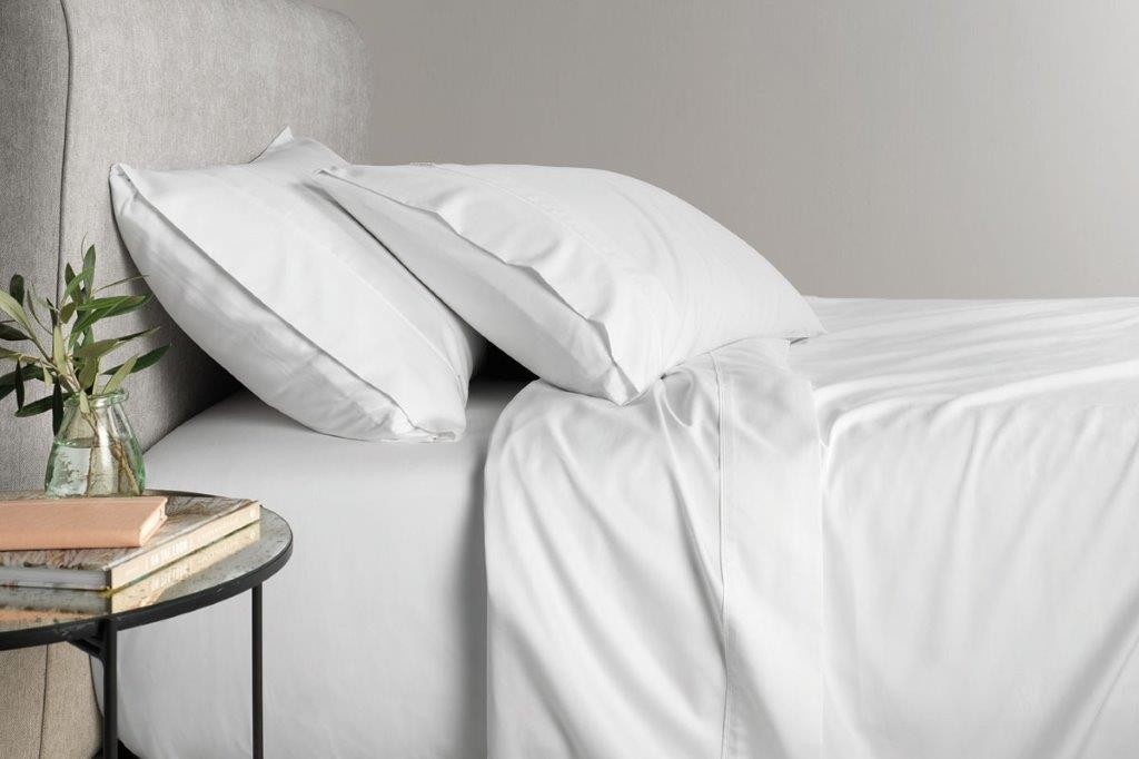 TENCEL™ Lyocell fibre & cotton sheet set Snow by Sheridan