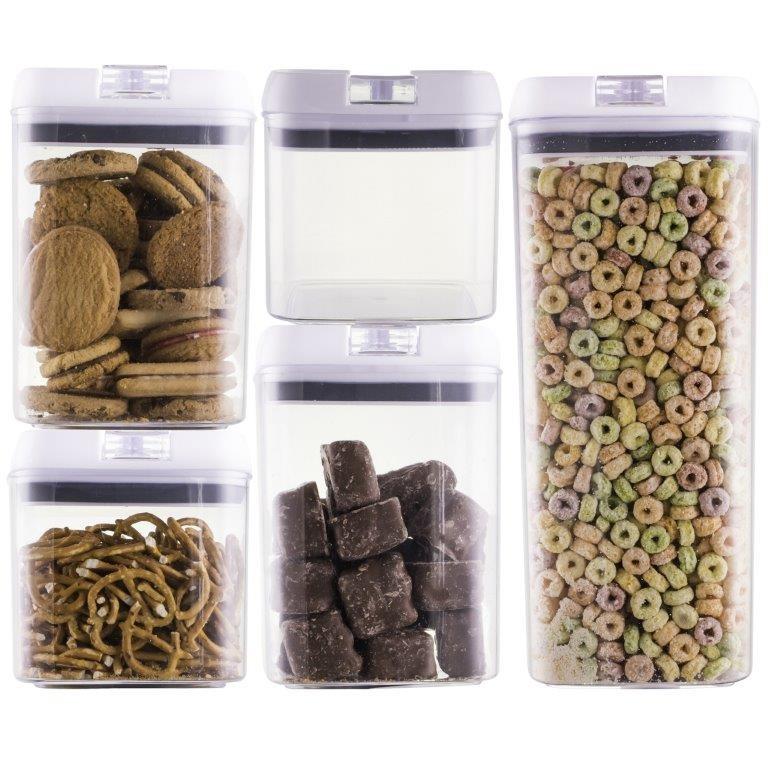 5 Piece Avanti Flip Top Storage Container Set