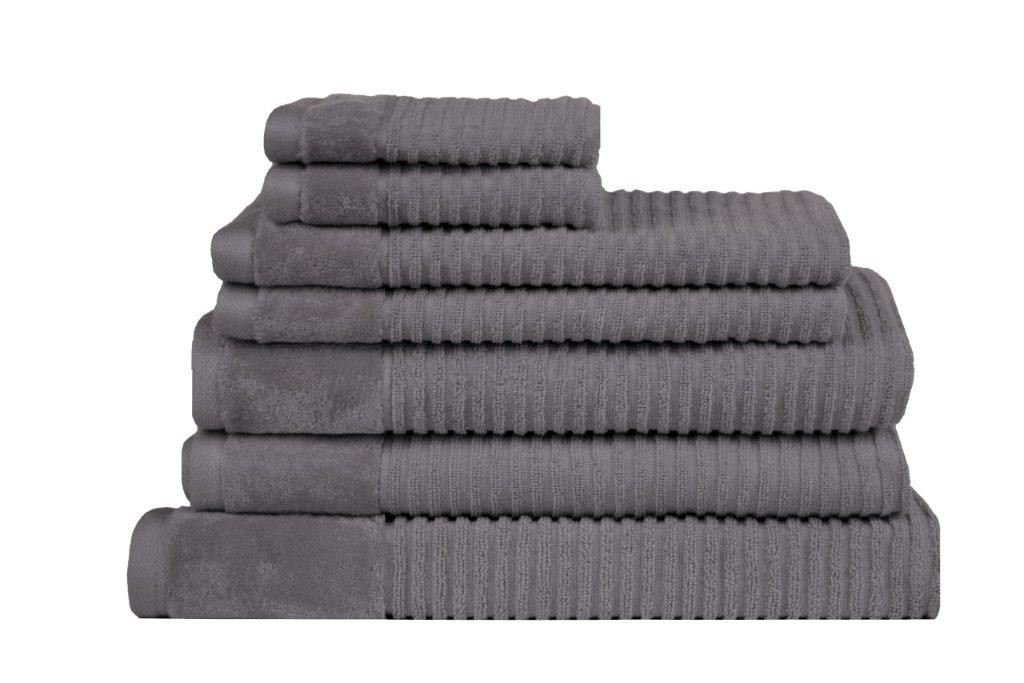 Royal Excellence 7 Piece Cotton Towel Set Charcoal
