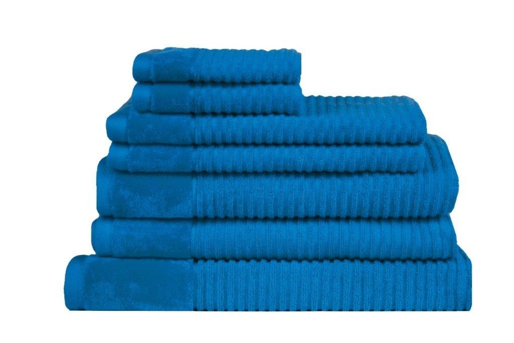 Royal Excellence 7 Piece Cotton Towel Set Teal