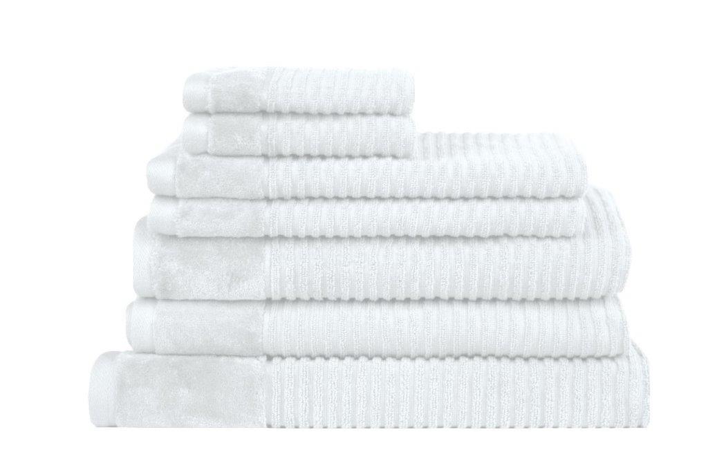 Royal Excellence 7 Piece Cotton Towel Set White