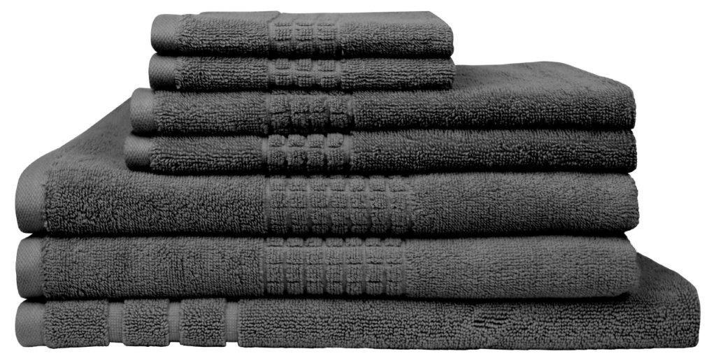 Montage 7 Piece Cotton Bath Towel Set - Charcoal