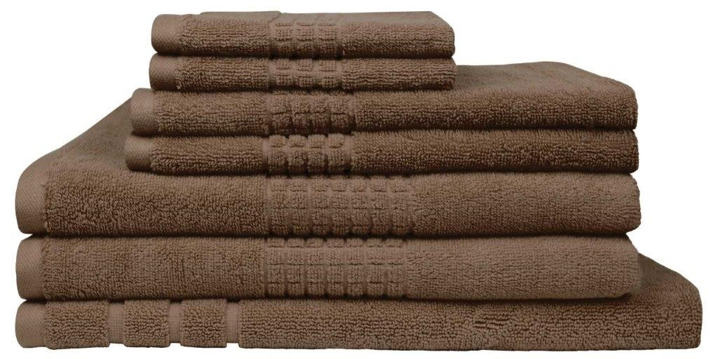 Montage 7 Piece Cotton Bath Towel Set - Mocha