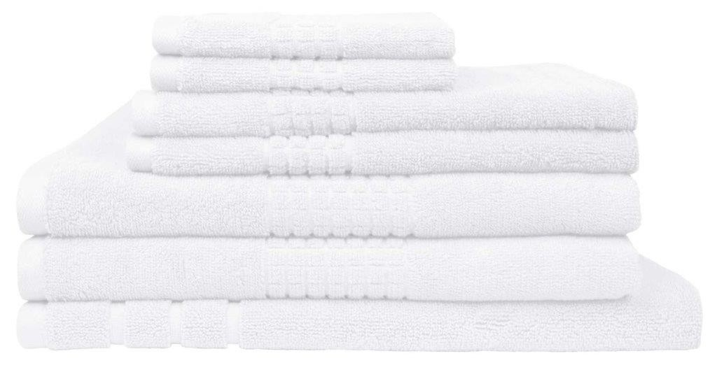 Montage 7 Piece Cotton Bath Towel Set - White