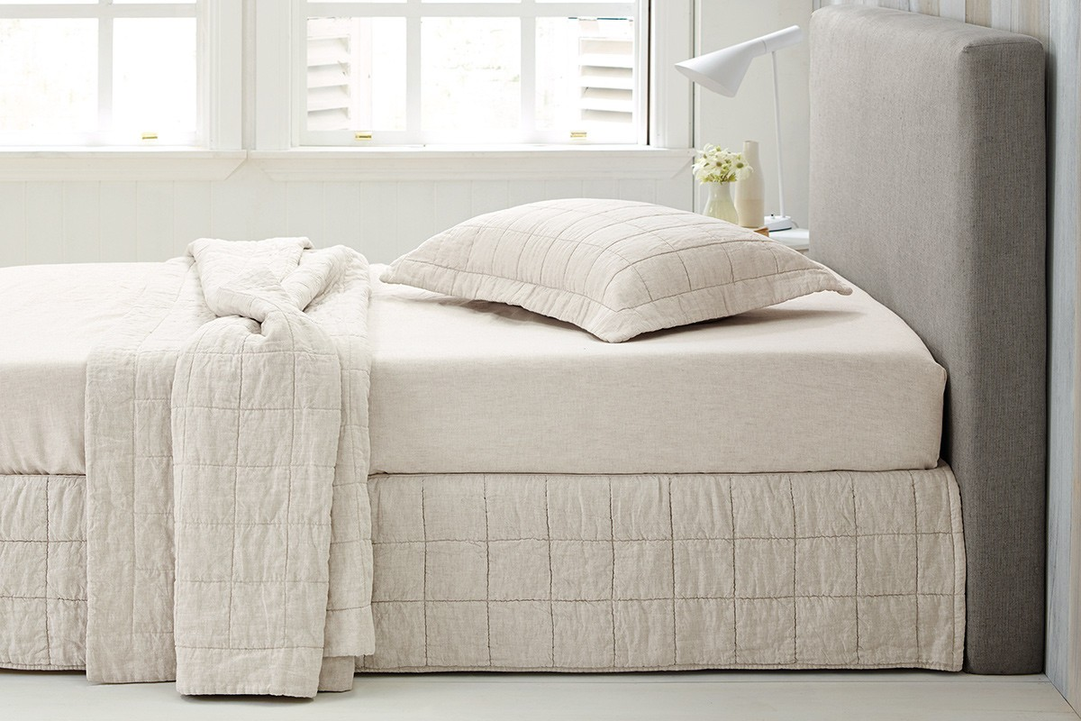 Abbotson Flax Quilted Bedskirt by Sheridan