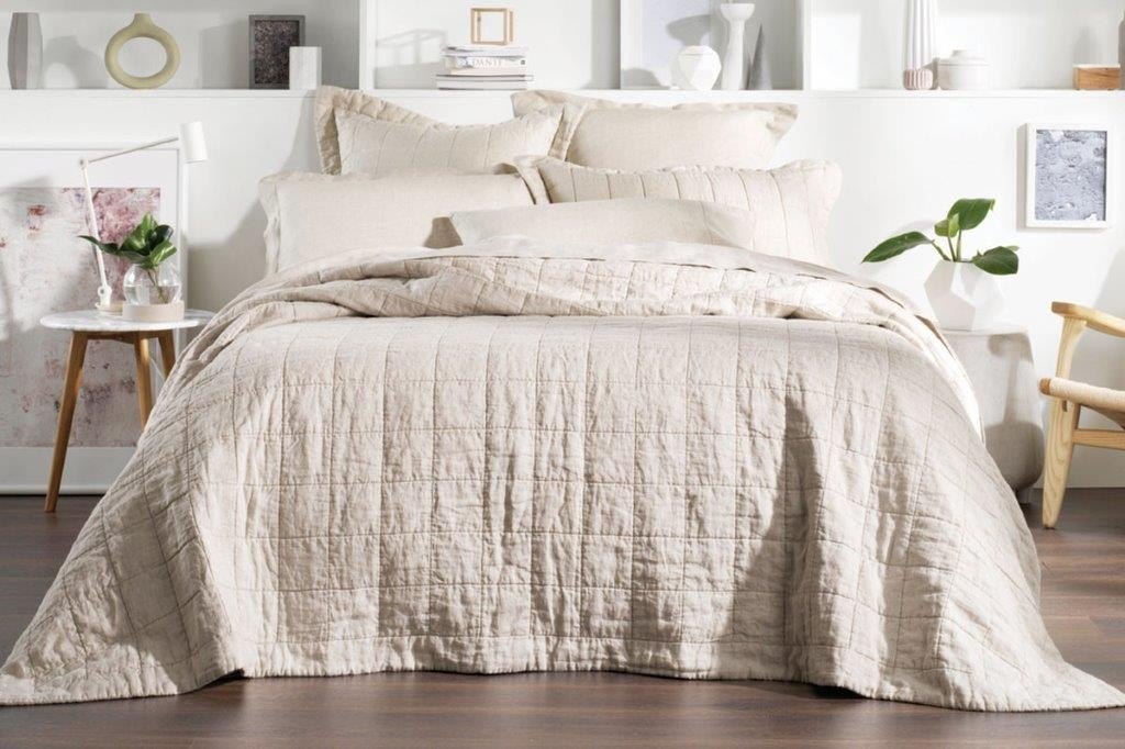Abbotson Flax Bed Cover by Sheridan