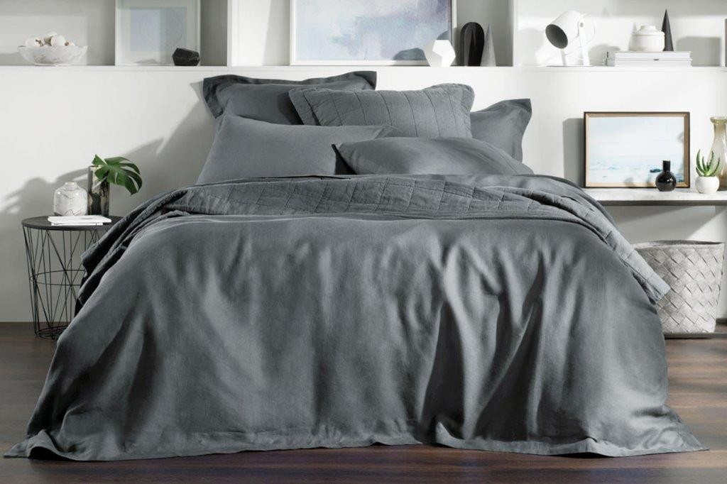 Abbotson Smoke Tailored Quilt Cover by Sheridan