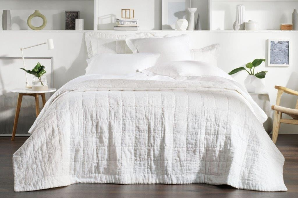 Abbotson White Bed Cover by Sheridan