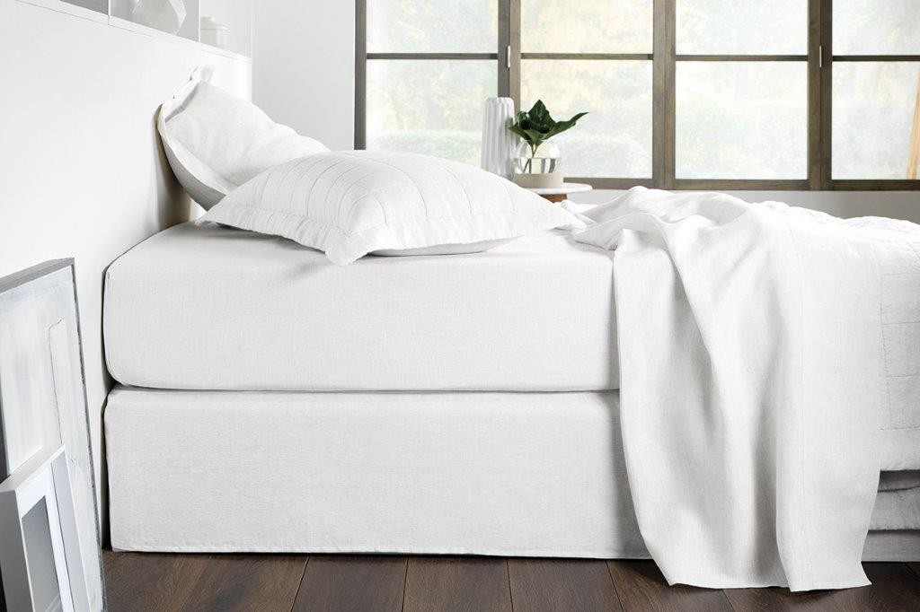 Abbotson White Plain Bedskirt by Sheridan