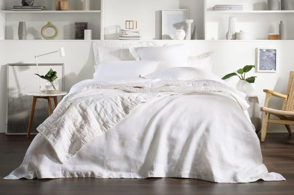 Abbotson White Tailored Quilt Cover by Sheridan