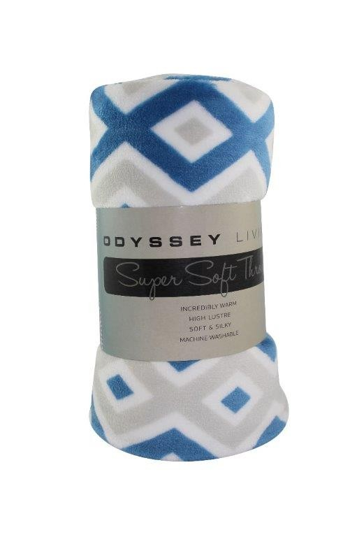 Amazon Throw Rug Blue/Silver by Odyssey Living