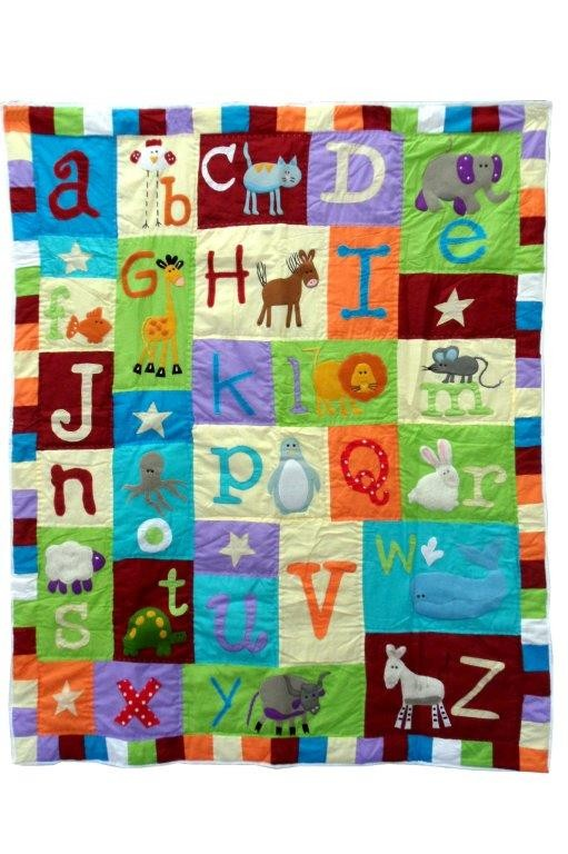 Animal Crackers Quilted Throw