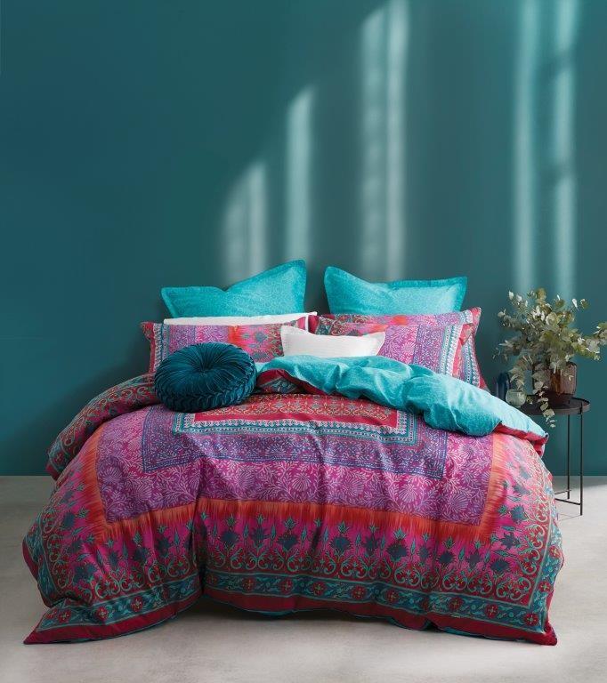 Amrita Fuchsia Queen bed Quilt Cover Set by Logan & Mason