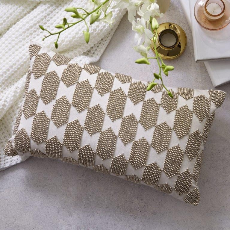 Aria Gold Decorator Cushion by Private Collection