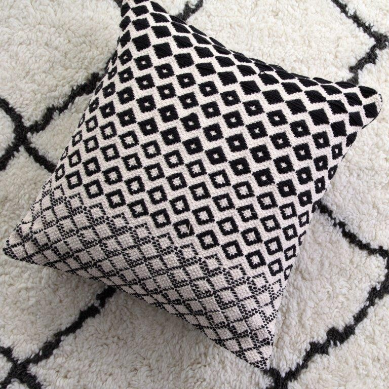 Astrid Graphite Square Cushion by Logan & Mason