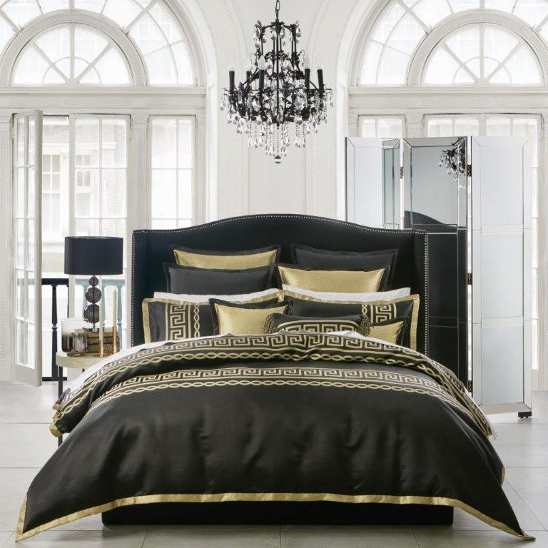 Athena Black By Davinci Private Collection Quilt Covers