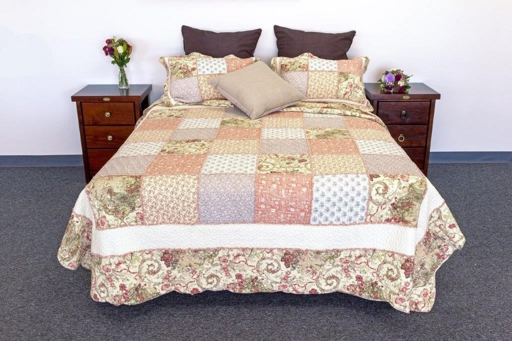 Autumn Burst Quilted Coverlet