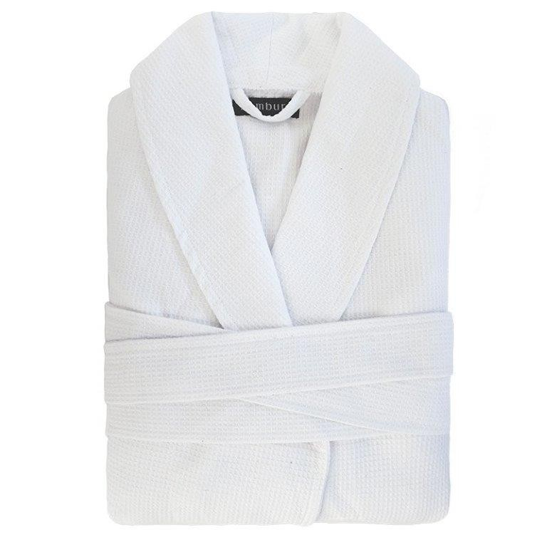 Commercial Grade Waffle Robe - White