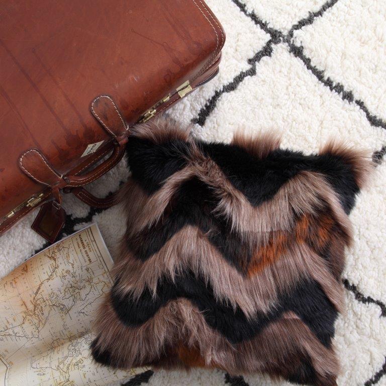 Bengal Tan Square Cushion by Logan & Mason