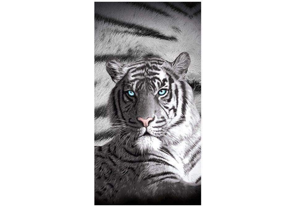 Blue Eyes Striped Tiger Beach Towel by Just Home