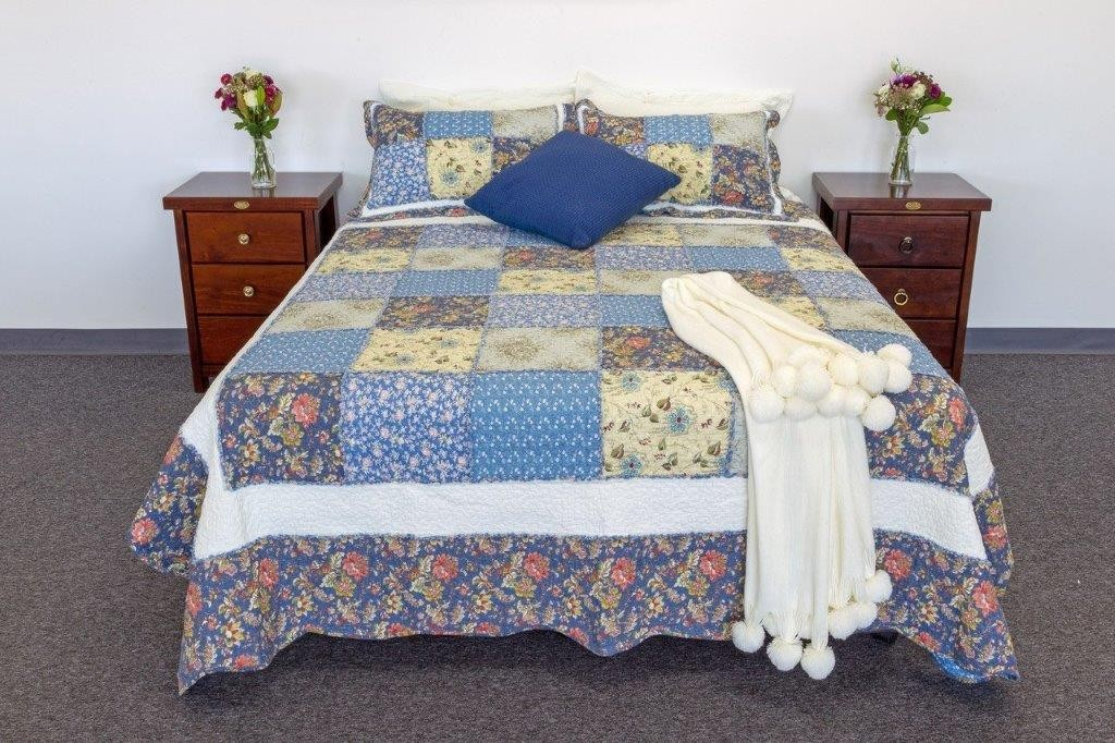 Blue Gaze Quilted Coverlet