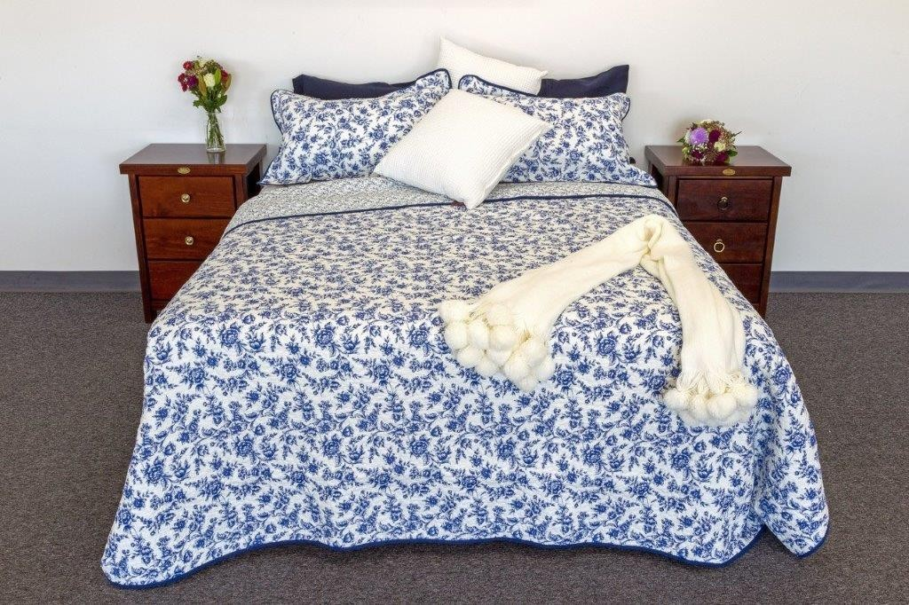Blue Royale Quilted Coverlet