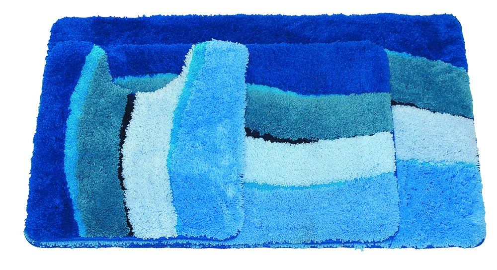 Microfibre Wave Blue Bathmat Range