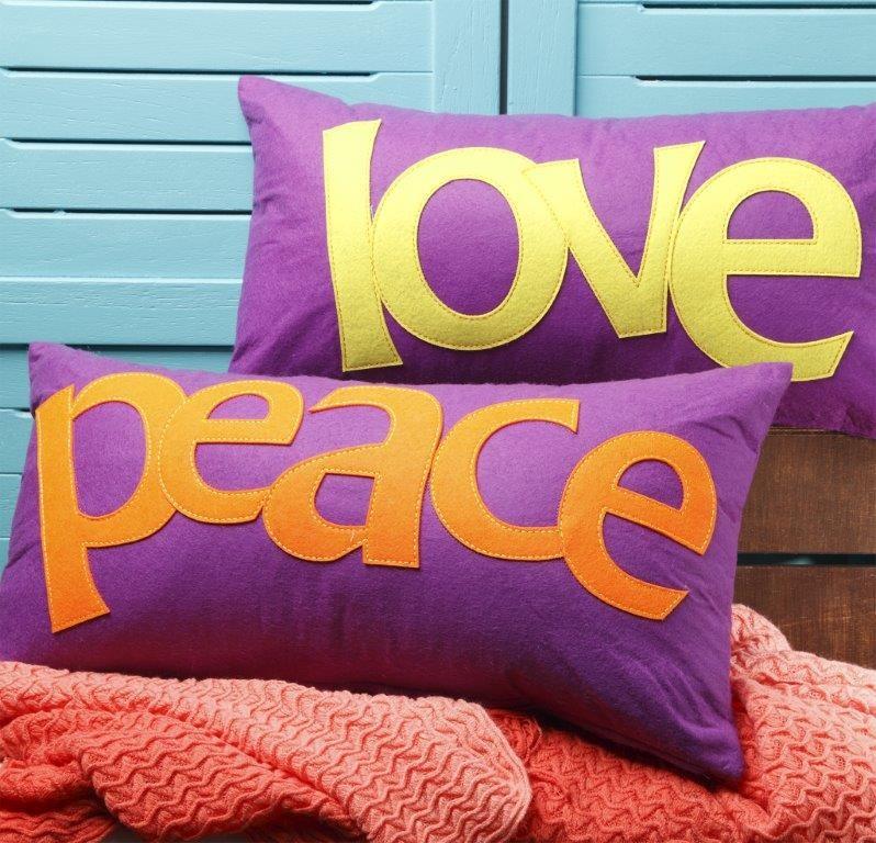 Boho Purple Long Cushion by Logan & Mason