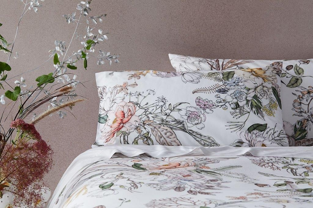 The Botanist Standard Super King Quilt Cover Set by Sheridan