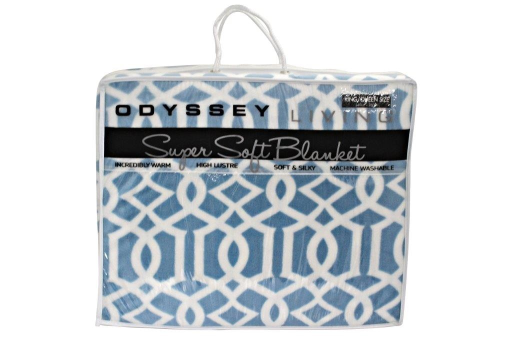 Gibraltor Blue Blanket Queen/King by Odyssey Living