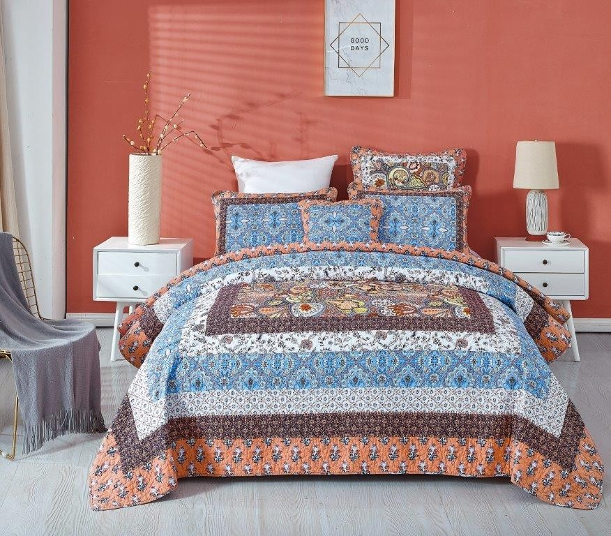 Captivate Paisley Quilted Coverlet