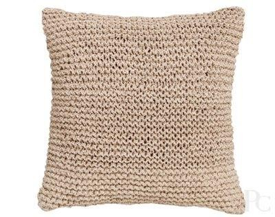 Cove Natural Square Cushion by Priavte Collection