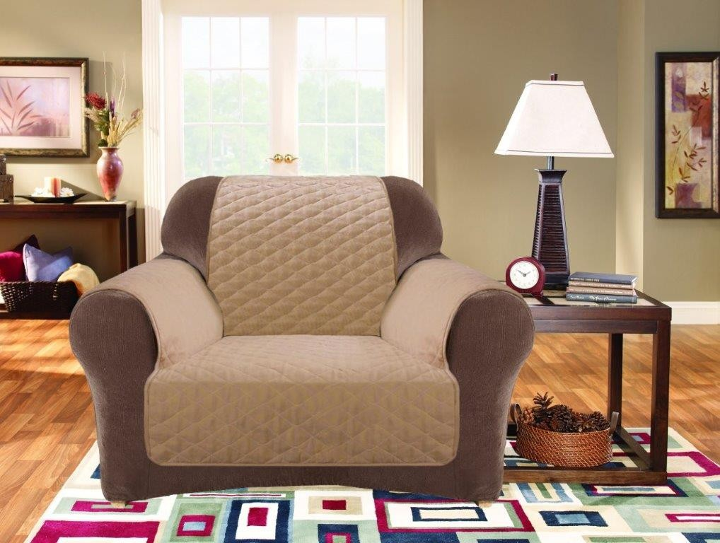 Dark Flax 1 Seater Custom Fit Couch Protector
