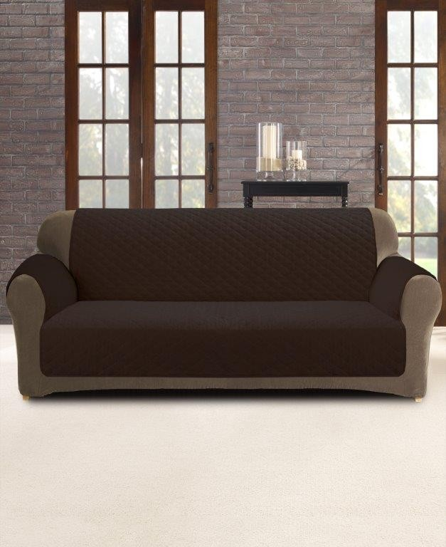 Coffee 2 Seater Custom Fit Couch Protector