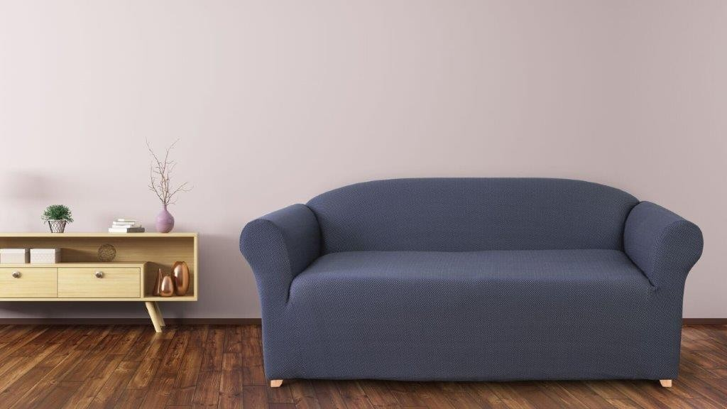 Diamond Navy 2 Seater Couch Cover by Surefit