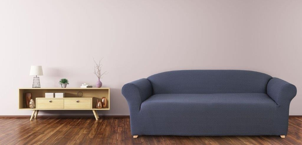 Diamond Navy 3 Seater Couch Cover by Surefit