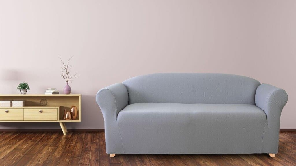 Diamond Silver 2 Seater Couch Cover by Surefit
