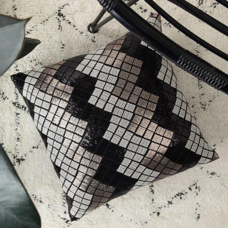 Diaz Pewter Square Cushion by Private Collection
