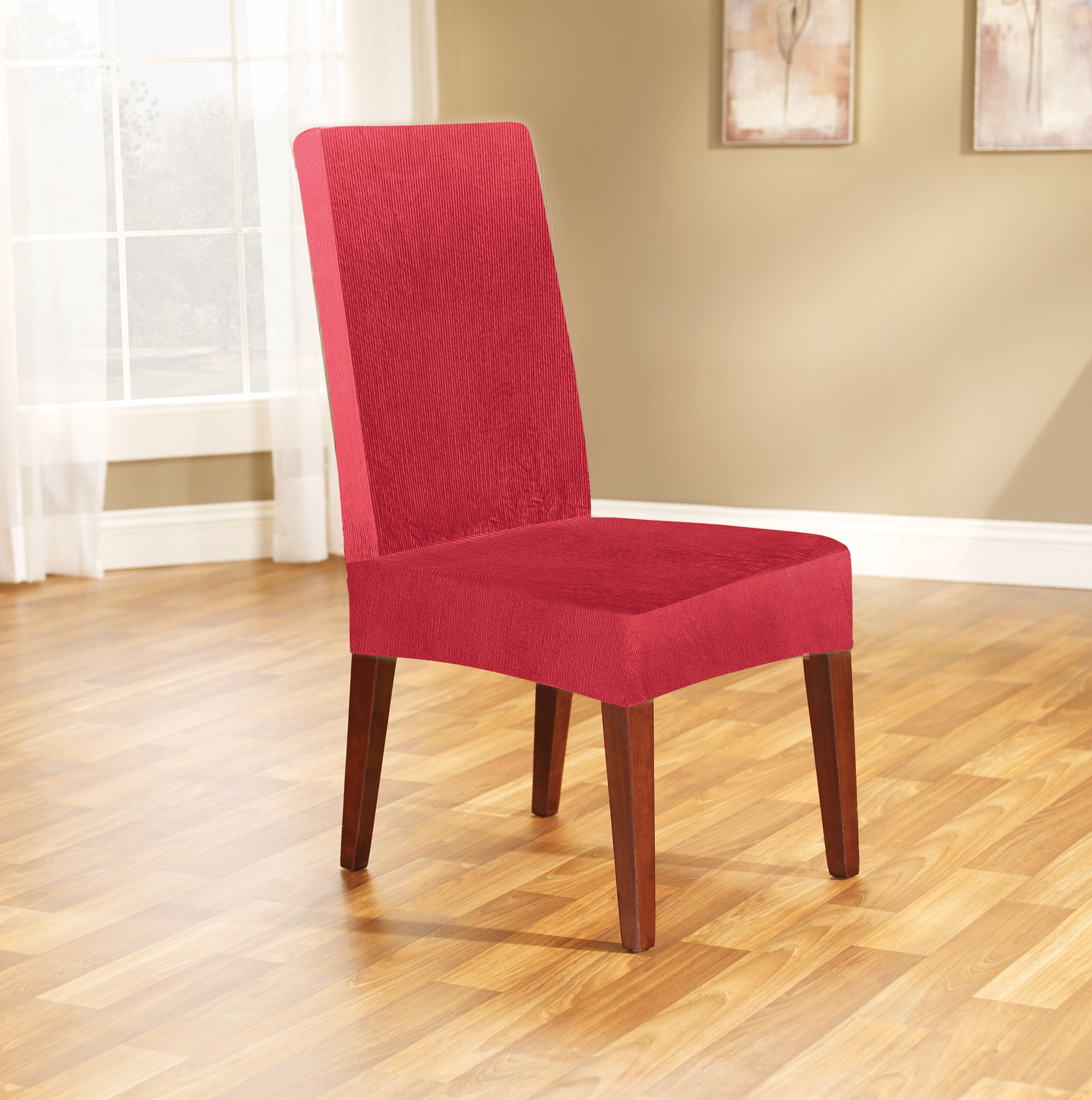 Red Dining Chair Cover By Surefit Couch Covers Best