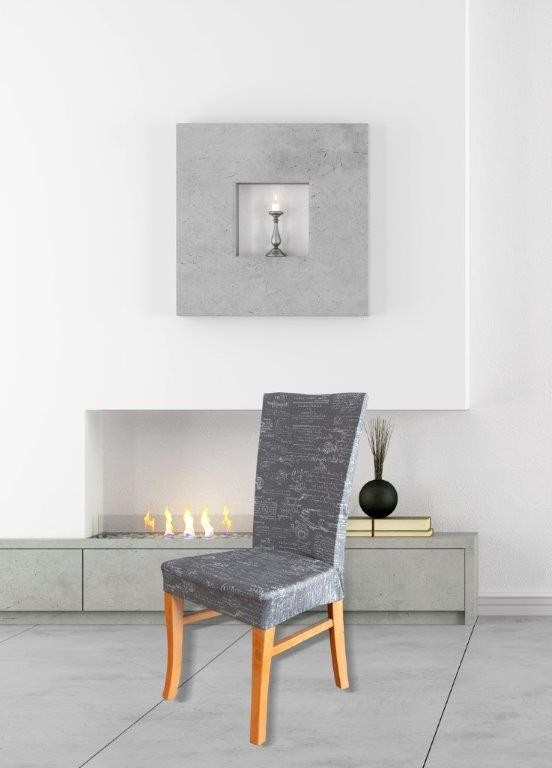 Signature Grey Dining Chair Cover by Surefit