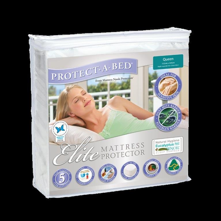 Elite Tencel Mattress Protector & Pillow Protector Range by Protect A Bed