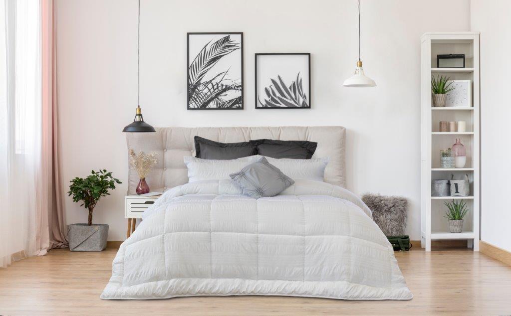 Ardor Boudoir Ella Seersucker Comforter Set White