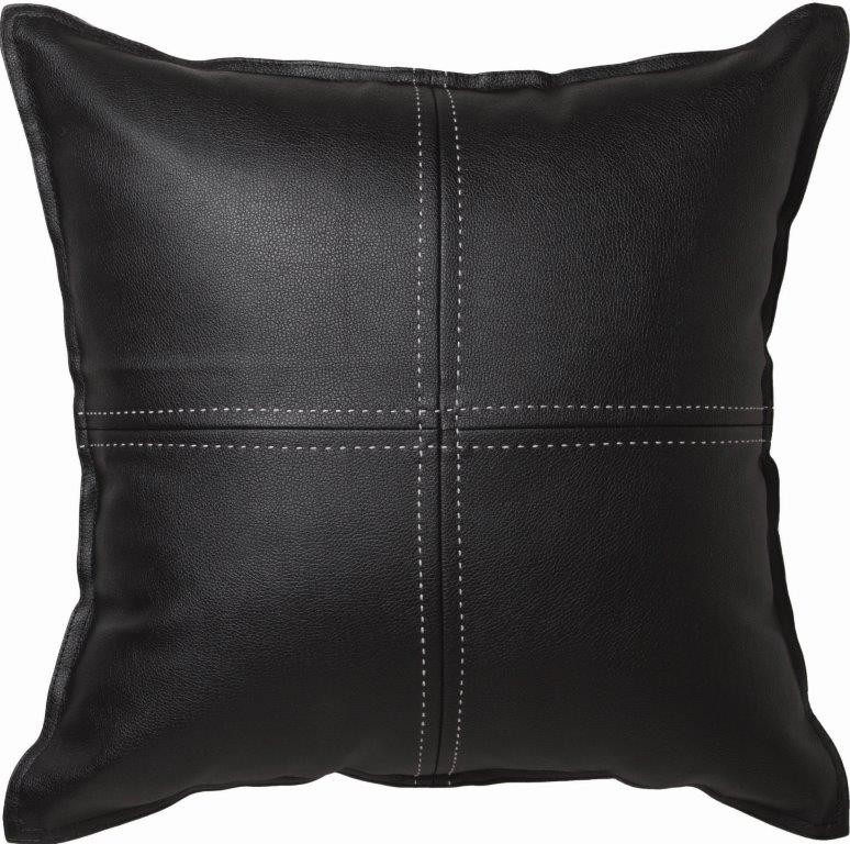 Exeter Square Cushion Black by Logan & Mason