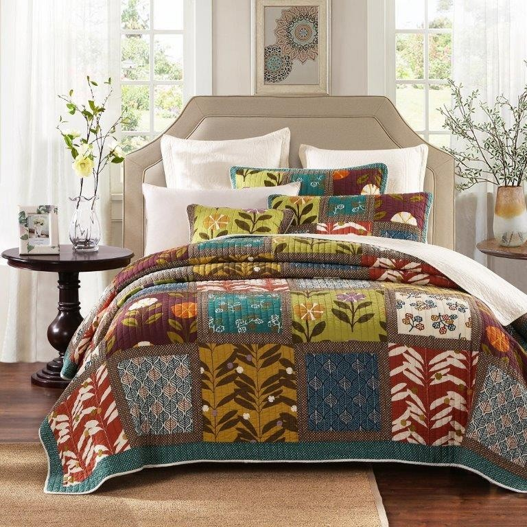 Garden Delight Quilted Coverlet
