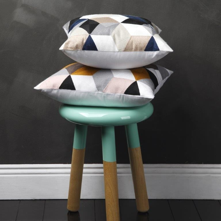Geo Square Cushions by Logan & Mason