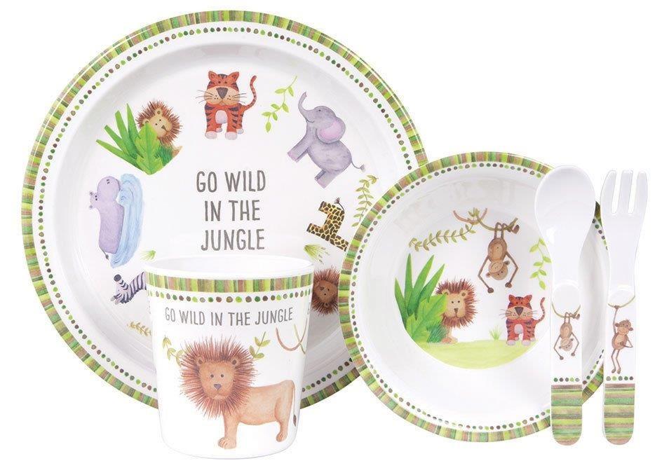 Go Wild In The Jungle By Ashdene - 5 Piece Kids Dinner Set