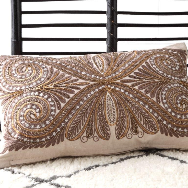 Greco Bronze Decorator Cushion by Da Vinci Private Collection