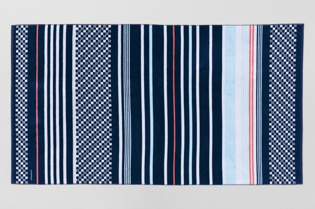 Harbourview Midnight Beach Towel by Sheridan